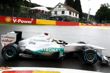 Schumacher kan amper rijden in kwalificatie België