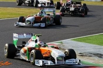Force India buiten de punten op Suzuka