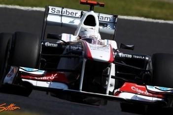 Kobayashi heeft zware middag, Perez rijdt sterk