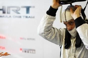 Charouz rijdt eerste vrije training voor HRT