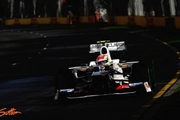 Perez vijf plaatsen achteruit op de startopstelling