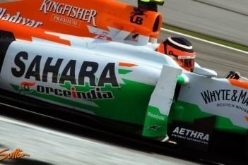 Force India beleeft weing enerverende vrijdag