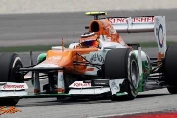 Force India laat weinig zien in kwalificatie Sepang