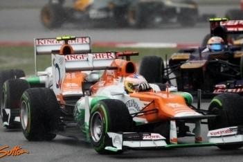 Force India met beide wagens in de punten