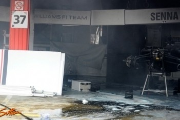 Formule 1-personeel gewond na brand Williams