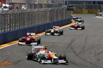 Force India met twee wagens bij eerste zeven