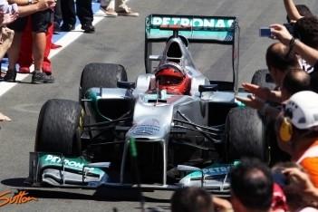 Schumacher mag podiumplaats houden in Valencia