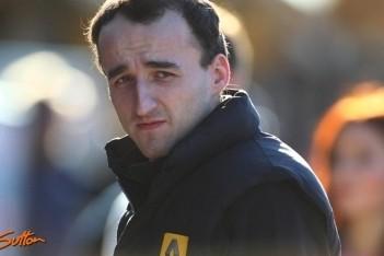 Kubica in actie tijdens rallytest in Frankrijk