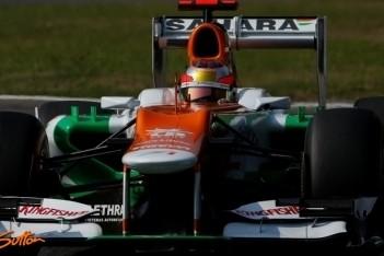 Force India test drie coureurs tijdens rookiedagen
