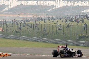 Moeilijke race in India voor Toro Rosso-duo