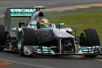 Mercedes-coureurs vol optimisme na race