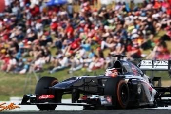 Teleurstellende kwalificatie voor Sauber-duo