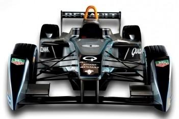 Eerste Formula E-bolide onthuld in Frankfurt
