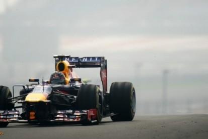 Vettel bovenaan in ingekorte derde training