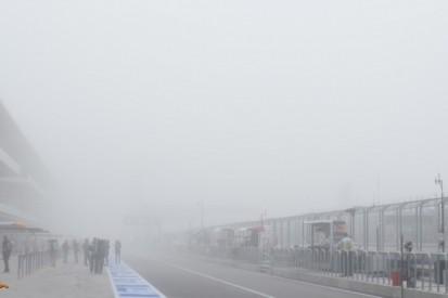 Start eerste training in Austin uitgesteld om mist