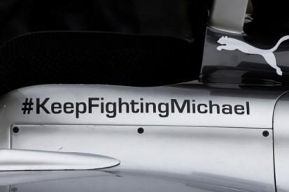 Mercedes rijdt met steunbetuiging aan Schumacher