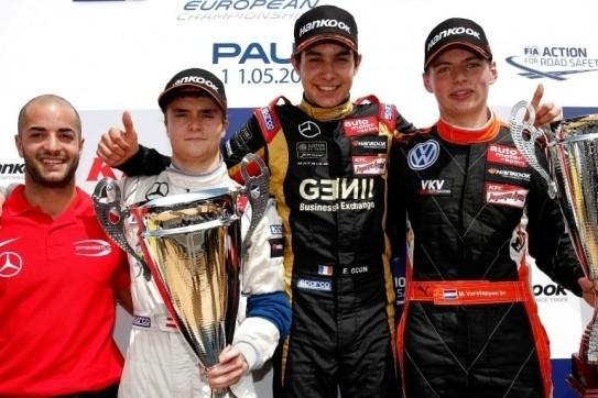 Ocon verzilvert pole-position in thuisrace, Verstappen derde