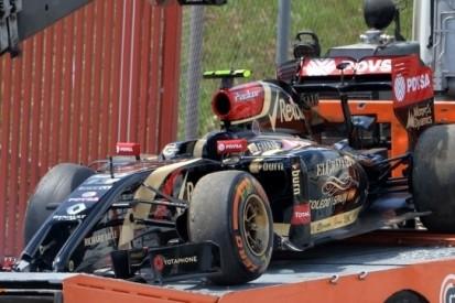 Maldonado baalt van crash in Spaanse kwalificatie