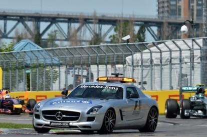 F1 onderweg naar staande herstarts na safety car