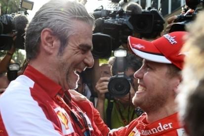 """Vettel na eerste Ferrari-zege: """"Heb er geen woorden voor"""""""