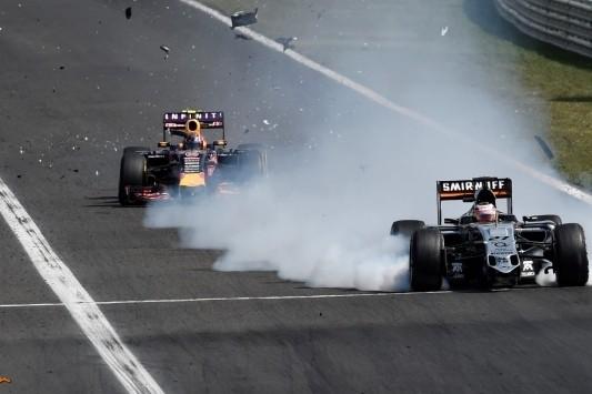 Hülkenberg crasht tijdens Grand Prix van Hongarije