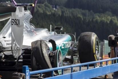 Rosberg wil snel oplossing na klapbanden in Spa
