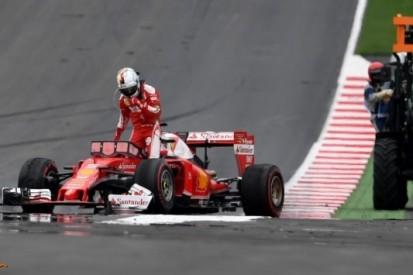 """Vettel: """"Reden van klapband is nog één groot vraagteken"""""""