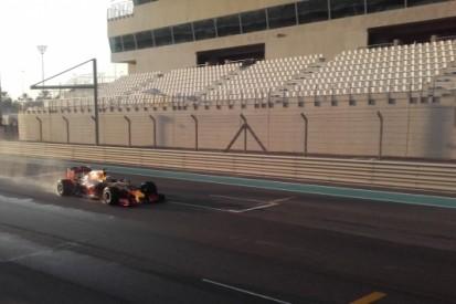 Gasly rijdt 286 rondjes op nat circuit van Abu Dhabi