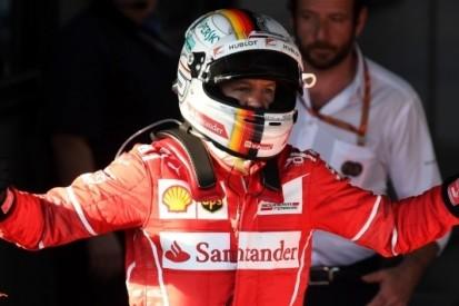 """Vettel door het dolle heen: """"Dit is echt ongelooflijk"""""""
