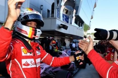 Eindelijk tweede poleposition voor Vettel in Ferrari-dienst