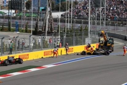 """Grosjean verbijsterd: """"Palmer reed pardoes tegen me aan"""""""