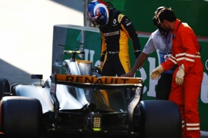 Renault blijft als enige team met lege handen in Baku