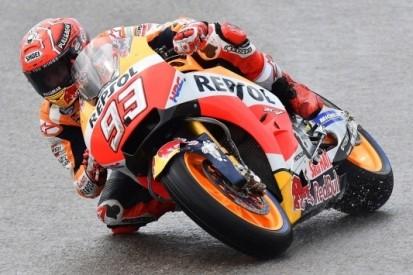 Marquez ook op nat wegdek allersnelste in Duitsland