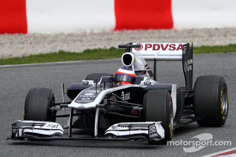 Williams Barcelona test report 2011-03-11
