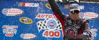NASCAR Cup Harvick takes win in California with last lap pass