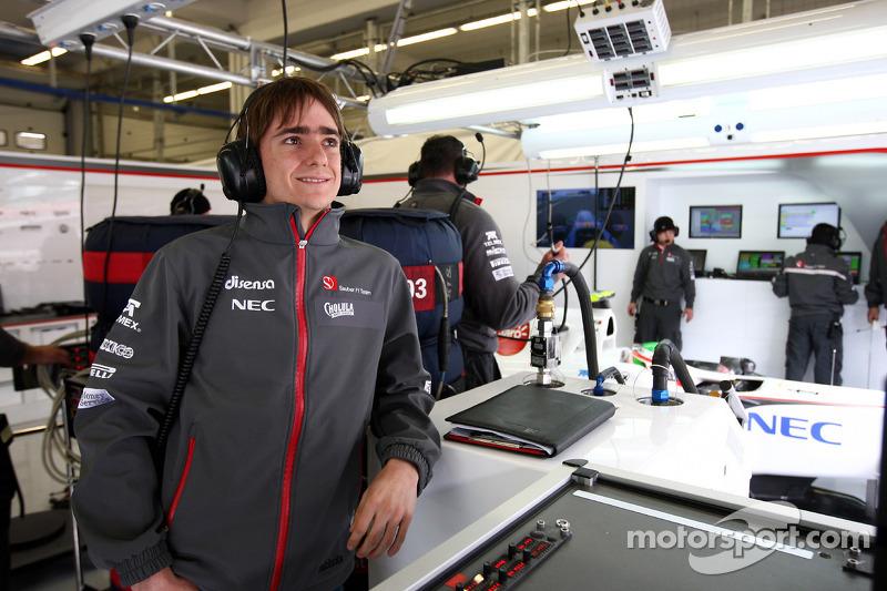 Esteban Gutièrrez carries out aero test in Vairano