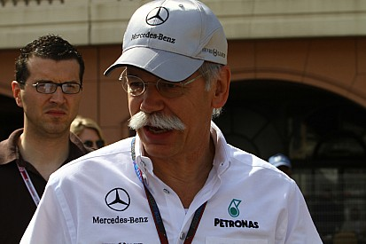 Zetsche not happy but with 'staying power' for Formula One