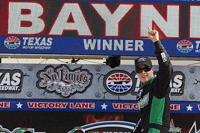 Trevor Bayne scores his first series win at Texas