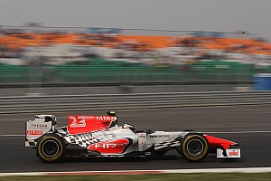 Formula 1 HRT's Liuzzi back in the seat for Abu Dhabi GP