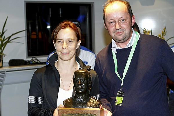 Ilka Minor is awarded Michael Park 'Beef' Trophy