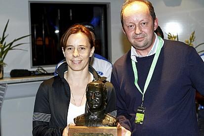 Ilka Minor is awarded Michael Park 'Beef' Trophy