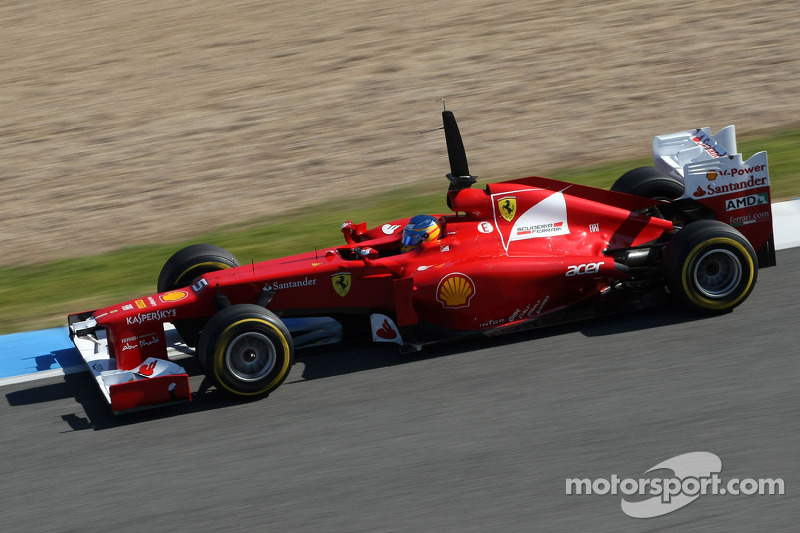 Ferrari Barcelona day 1 testing - Nothing new on the Spanish front
