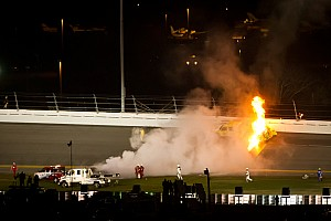 NASCAR Cup Montoya on Daytona fiery crash with Phoenix media
