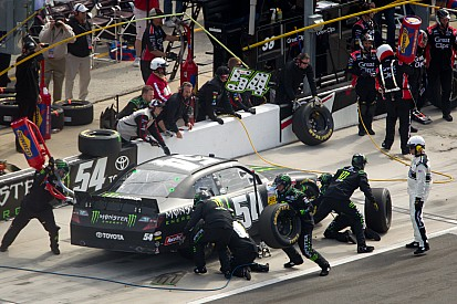 Owner/driver Kyle Busch learning curve continued at PIR