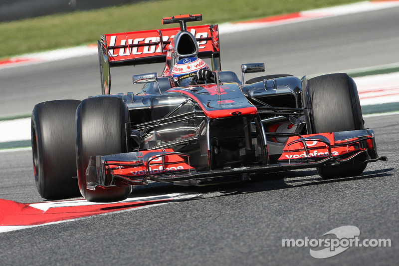 Button starts Spanish GP with fastest time on Friday