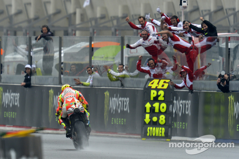 Ducati and Rossi celebrate podium finish in wet French GP