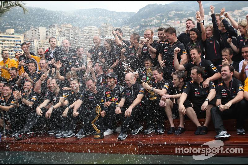 Red Bull Racing celebrates third straight Monaco GP win