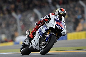 MotoGP Lorenzo on lap record pace during Catalunya practice