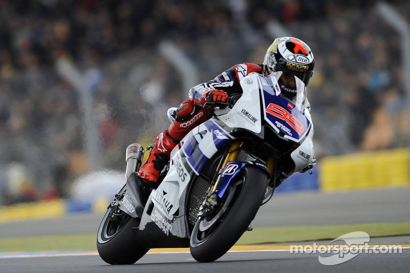 Lorenzo on lap record pace during Catalunya practice
