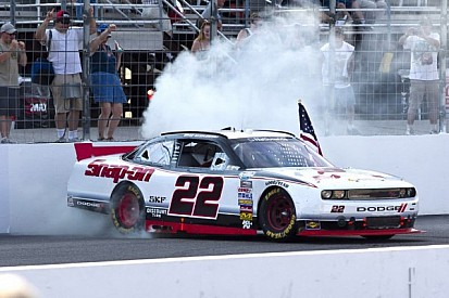 Keselowski wins Loudon with late-race pass